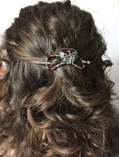 'Cherish' your curly hair with this lovely new design from Lilla Rose. The red heart symbolizes love and there is nothing like a beautiful, easy to use, comfortable to wear flexi clip to show your hair some love!