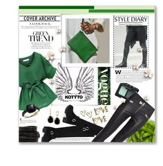 """Green Clutch - KOTYTO"" by katrina-byrd-jones ❤ liked on Polyvore featuring NARS Cosmetics, Pomellato, Pieces, Effy Jewelry, women's clothing, women, female, woman, misses and juniors"