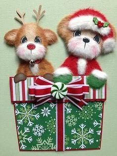Christmas Santa Reindeer Tear Bear Scrapbook ELITE4U 3PAPERWISHES   eBay
