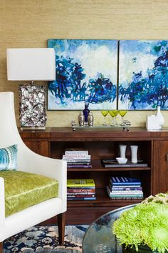 Storage Solutions for an Organized Living Room- Console Cabinets Family Room by James Rixner