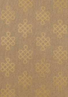 Endless Knot hand printed paper weave wallcovering in Metallic Gold by Thibaut's as yet unreleased Grasscloth Resource Vol 2.      hubs hates this - but i would love for dining room!