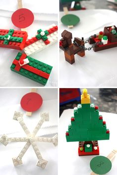LEGO Advent Calendar Building Challenges Presents Tree Snowlfake Sled and Reindeer