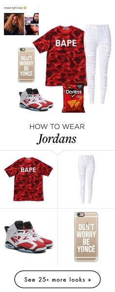 """Untitled #60"" by kiatheplugg on Polyvore featuring A BATHING APE, Casetify, women's clothing, women's fashion, women, female, woman, misses and juniors"