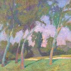 """Daniel W. Pinkham - Rhythm, Oil on canvas 24"""" x 24"""""""