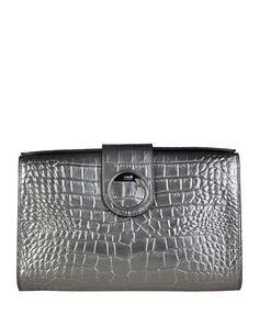 Cavalli class - collezione a/i 2016 - borsa donna - pochette - chiusura magnetica - taschino interno con zip, taschino i - Pochette donna  Grigio