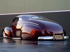1940 Ford coupe slammed in the sexiest and deeped coat of red paint in the world. This wins the award for the sexiest car I've ever seen. Rat Rods, Cadillac, Mustang Cabrio, Carros Vw, Vintage Cars, Antique Cars, Ford, Lead Sled, Hot Rides