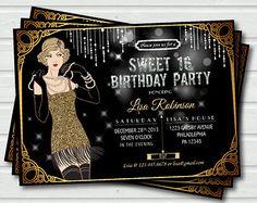 Gatsby Sweet 16 Party Invitation Great Birthday cakepins.com