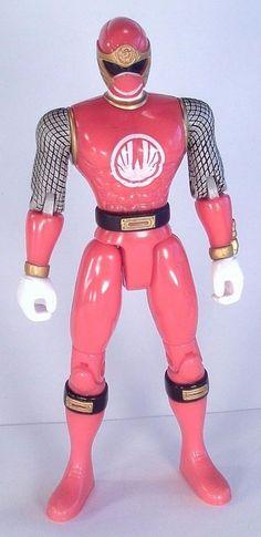 POWER RANGERS Ninja Storm Red Wind Ranger 5.5in Action Figure Bandai 2003 #Bandai