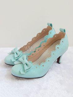 e8a54b554dab Sweet Lolita Pump Lost Nuns Bow Strappy Tie Stiletto Kitten Heel Lolita  Shoes  Lost