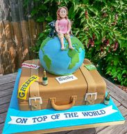Globtrotter cake / On top of the world birthday cake