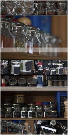 jars with chalkboard paint labels  frascos con etiquetas de pintura para pizarrones