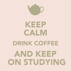 Join us in the library for coffee and studying!