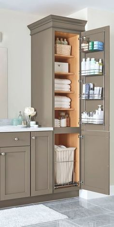 25 best linen cabinet images bathroom linen closet closets washroom rh pinterest com