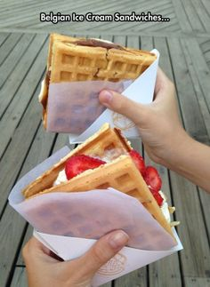 Belgian waffle ice cream sandwiches are a perfect snack for geeks on a hot summer day.