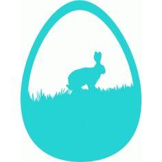 Silhouette Design Store - View Design #40440: bunny scene egg