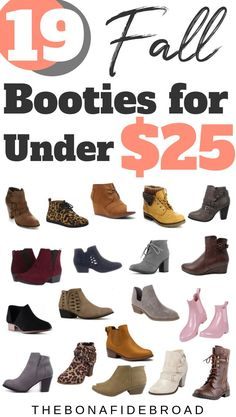19 of the trendiest and chicest booties for fall, all under $25! #frugalfashion #fallfashion #fallbooties #booties #boots #affordablefashion #cheapandchic #fallstyle #shoes #cheapfashion #budgetfashion#luxeforless #luxuryforless #thebonafidebroad #bargainfinds #amazonfashion #amazonfinds #founditonamazon #affordableclothing #thelookforless #bargainfashion #amazonstyle #shoesoftheday #lookforless #designerdupes #dupes #classyandchic #affordablestyle #frugalliving #styleonabudget #frugalfinds
