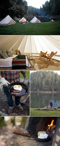 Sweet Thing blog, i think i would love camping if it were like this.