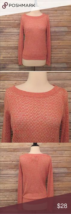 "Anthropologie Guinevere Pink Sweater Anthropologie Guinevere Pink open Knit Sweater.  In excellent condition.  Bust 35"" Length 23"" Anthropologie Sweaters Crew & Scoop Necks"