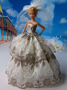 Handmade Barbie dolls clothes Highgrade dress by Blueberry3