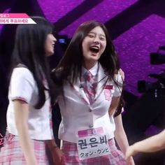 I Guess Sian remove Eunbi's Name Tag on her chair and put it on herself😂 Sian Loves Eunbi a Lot! Produce 101, How To Remove, Ship, Memes, Ships, Animal Jokes, Meme, Yachts