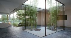 Indoor Garden Designs that Will Bring Life Into the Home | Zen garden with bamboo, rocks and sand.