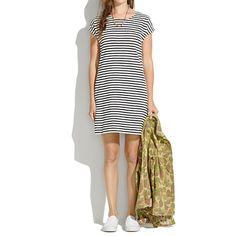 New Arrivals : Women's Dresses, Skirts, Shirts & Tops | Madewell.com zipline minidress in pencil stripe $98.00 item A2037