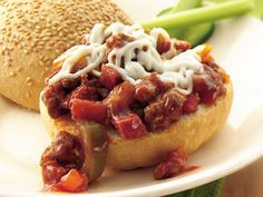 Slow Cooker Sausage Pizza Sloppy Joes