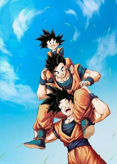 's post 🦋 𝔸𝕟𝕚𝕞𝕖 : Dragon Ball Z ℂ𝕒𝕣𝕒𝕔𝕥𝕖𝕣 : Goku's Family Dragon Ball Gt, Dragon Ball Image, Gohan And Goten, Videl Dbz, Dbz Vegeta, Christmas Dragon, Funny Dragon, Frank Zhang, Black Panthers