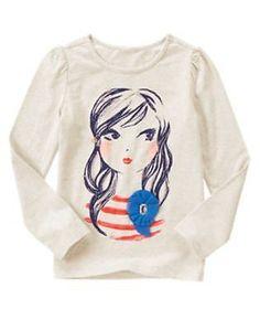 NWT Gymboree Mod about Orange Sz: 8 Tan Long sleeve fashion Girl Top | eBay