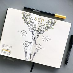 """1,608 Likes, 126 Comments - K  (@bumblebujo) on Instagram: """"My deer #weeklyspread all ready to go!! I decided to mish mash two of my previous layouts into one,…"""""""