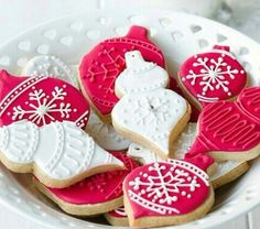 Christmas cookies with frosting ♡