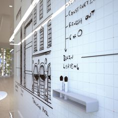 Glass Whiteboards and Glass Dry Erase Boards by Clarus (Spots and Dots Pattern) - Like the grid on the glass markerboard!