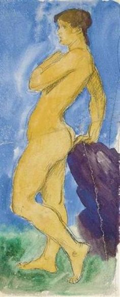 Augustus Edwin John - Standing nude