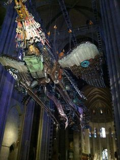 Xu Bing at Cathedral of St.John the Divine.