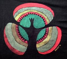 SOLD Unique gift Inside handpainted on black t by miritaTshirts