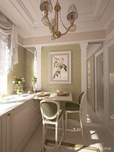 Interior Garden, Kitchen Interior, Interior Design Living Room, Kitchen Design, Elegant Kitchens, Beautiful Kitchens, Architecture Design, Kitchen Sets, Cozy House