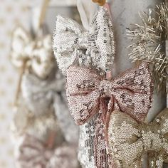 Sequin Bow Ornaments by The Land of Nod