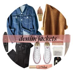 """""""Denim Trend: Jean Jackets"""" by nerd-ville ❤ liked on Polyvore featuring Converse, BRAX, Davines, Mason Pearson, Bobbi Brown Cosmetics, Laura Mercier, Too Faced Cosmetics and Soleil Toujours"""