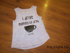 free svg downloadable file for cricut and silhouette.  i drive mommy to drink coffee.  perfect description of mom life...