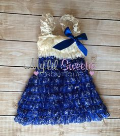 f4388a29acd5d Ivory blue dress newborn dress Lace dress by MyLilSweetieBoutique Baby  Cover
