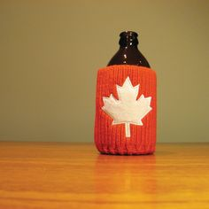 The Drink Toque - Team Canada  As Canadian as it gets! Classic, vintage-style, knit koozie. Iconically Canadian.