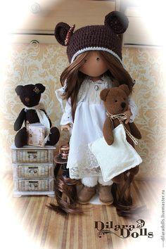 """текстильная кукла """"ПОРА СПАТЬ"""" - подарок,подарок девушке,подарок женщине"""