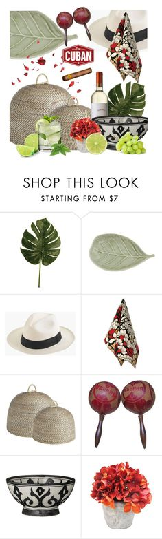 """Havana Nights NYE Dinner Party"" by jill-bh ❤ liked on Polyvore featuring interior, interiors, interior design, home, home decor, interior decorating, NOVICA, J.Crew, Birdkage and Ballard Designs"
