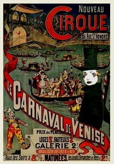 All vintage circus posters use bold yet slightly desaturated colour, dark stroke illustrations a painted effect. Old Circus, Dark Circus, Circus Art, Night Circus, Circus Theme, Vintage Circus Posters, Carnival Posters, Retro Poster, Poster Ads