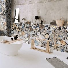 From antique to contemporary, we change the style and keep the state. The earthy colors encompass the whole, exposing the artist's abstract, Agate Chocolate. Interior Styling, Interior Decorating, Interior Design, Art Furniture, Clawfoot Bathtub, Baths, Agate, House Design, Change