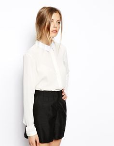 ASOS Blouse with Cotton Collar.  For Mary Poppins Halloween costume.