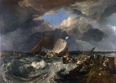 Il molo di Calais, William Turner, 1803. Olio su tela, 172×240 cm. National Gallery, Londra