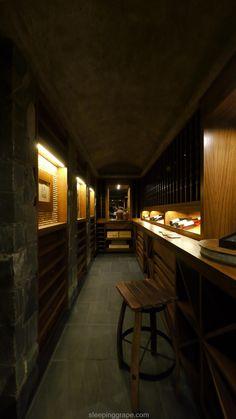 1,300+ bottle wine cellar built from vintage wood
