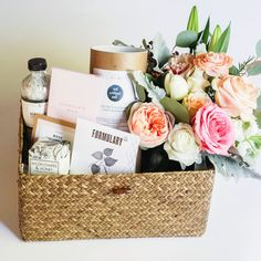 Gift Boxes in Keepsake wooden boxes. Curated Gifts with flowers or airplants delivered to your door!