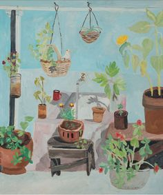 Patio. Ethel Gilmour. 1979. Art Direction, Patio, Mood, Painting, Home, Art History, Painting Art, Paintings, Painted Canvas